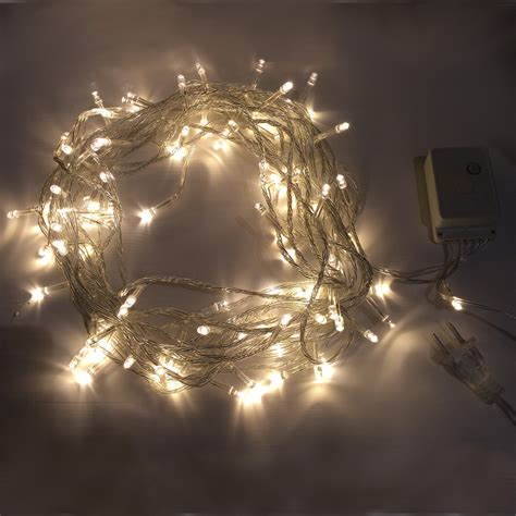 white led string lights 7 99 warm white 10m 8 mode led string lights