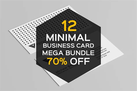 12 Up Business Card Template by 12 Minimal Business Card Templates Business Card