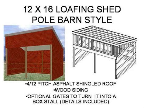 loafing shed plans   xxxxxx
