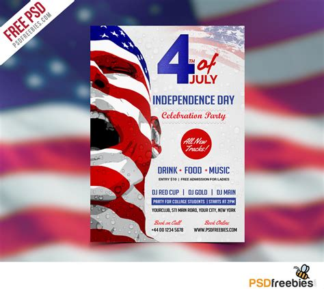 Usa Independence Day Flyer Template Free Psd Download Download Psd Free American Flag Flyer Template