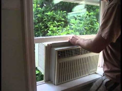 how to install a window a/c unit youtube