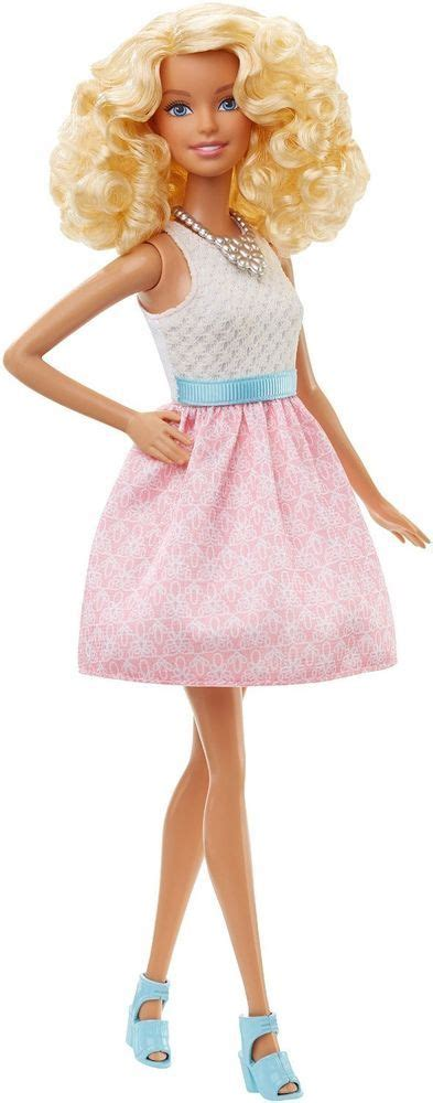 Dress Pink Curly new 2015 fashionista doll skin curly