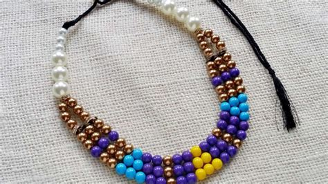 diy beaded necklace diy bead necklace www pixshark images galleries