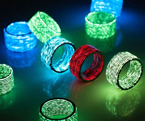 Carbon Fiber Glow In The Dark Rings   INTERWEBS
