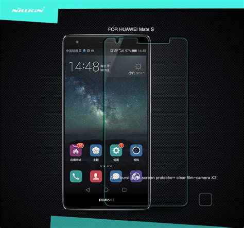 Huawei Mate S Nillkin Anti Gores Clear Screen Guard Protector Bening nillkin amazing h tempered glass screen protector for