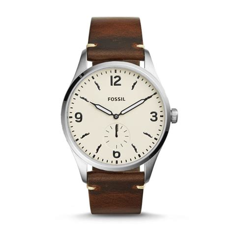 Fossil Second limited edition fossil x movember two sub second brown leather fossil