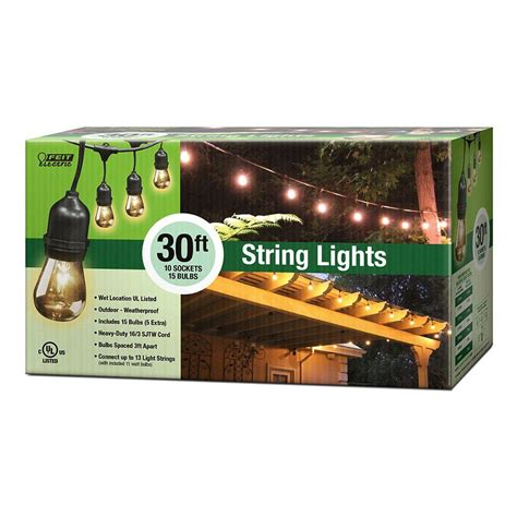 feit electric string lights feit electric 10 socket outdoor string light 72041 the