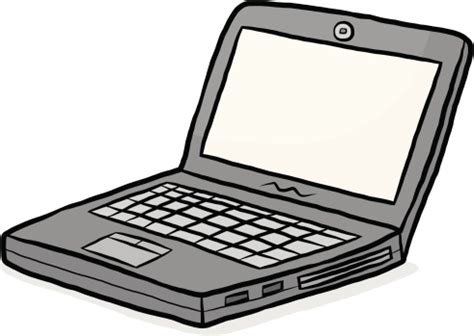 notebook computer cartoon vector art | thinkstock