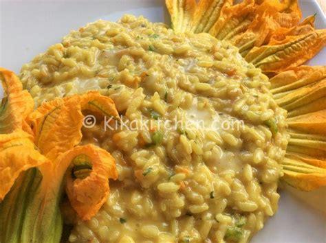 risotto fiori di zucca bimby risotto fiori di zucca e asiago ricetta passo passo