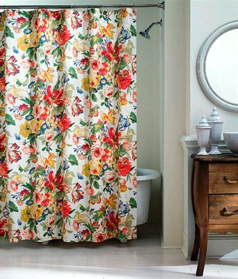 flowered shower curtains westport floral shower curtain traditional shower