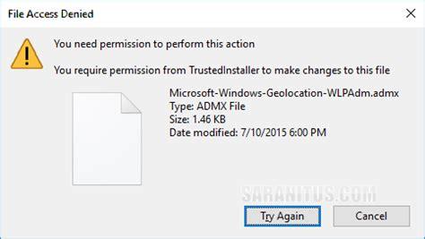 วิธี Take Ownership และตั้งค่า Permissions ไฟล์หรือ ... Access To Clipboard Denied Windows 10