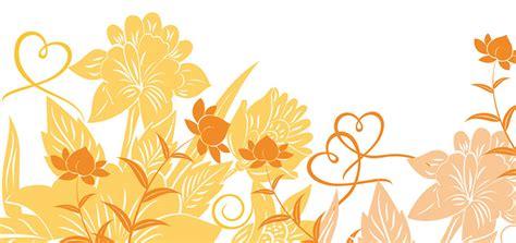 Hochzeitseinladung Floral by Hochzeitseinladung Florale Elemente In Orange