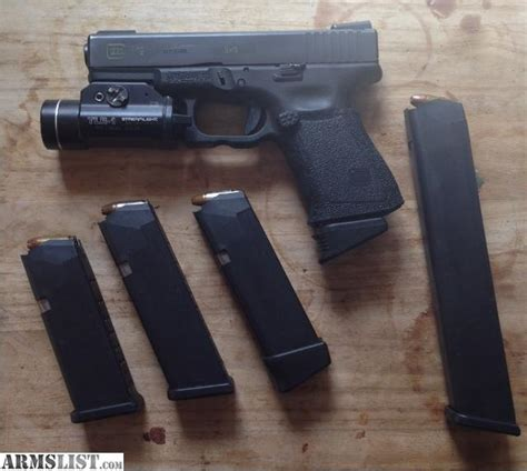 glock 19 tactical light armslist for trade custom glock 19 with tactical light