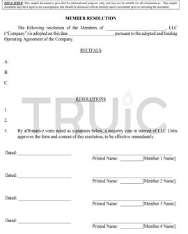 llc resolution template free llc forms how to start an llc