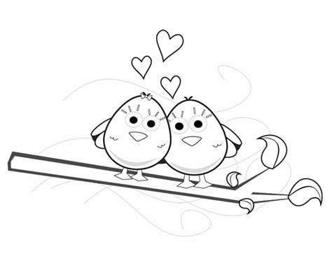 springtime coloring sheets spring love birds