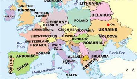 europe map now map of europe ukraine kiev