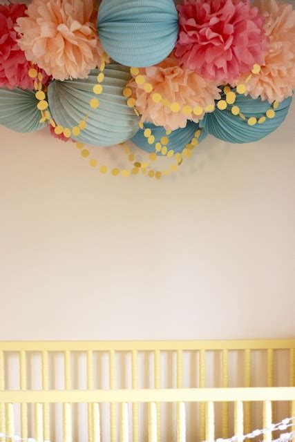Pom Poms To Hang From Ceiling by Colorful Fabulous Tissue Mobile To Hang Baby S