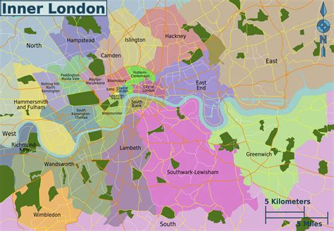 london sections map map of london 32 boroughs neighborhoods