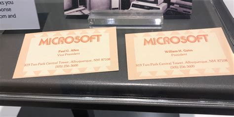 Microsoft Business Card