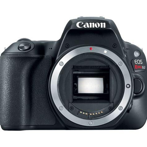 Kamera Dslr Canon Eos canon sl2 eos rebel dslr canon sl2 black 2249c001 b h