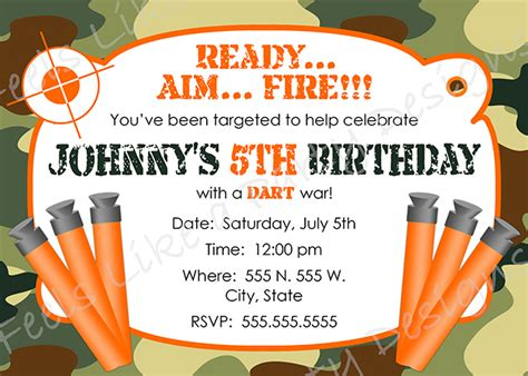 Nerf Party Invitations Nerf Party Invitations For Simple Invitations Of Your Party Invitation Nerf Invitation Template Free