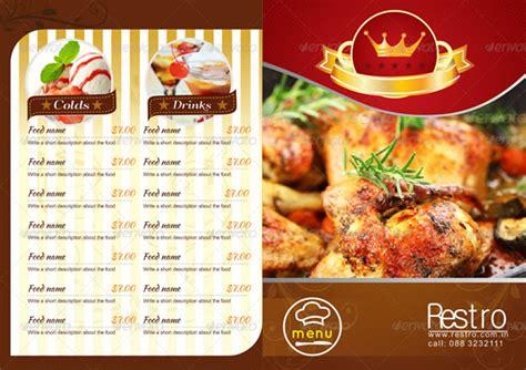 stylish food menu templates entheos