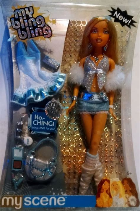my dolls house my bling bling barbie doll my scene mattel new nib j1038