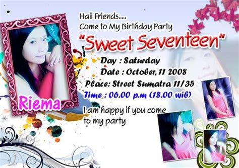 download desain kartu undangan ulang tahun kartu undangan ulang tahun sweet seventen jayadi 25