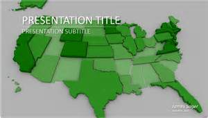 united states map powerpoint template 6323 free
