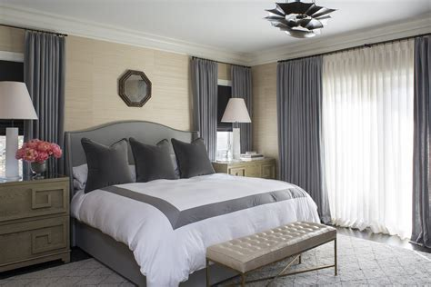 grey and tan bedroom a modern tailored home by wendy labrum la dolce vita