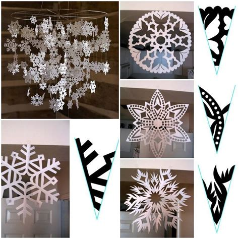 How To Make Paper Patterns - how to make snowflake paper pattern step by step diy