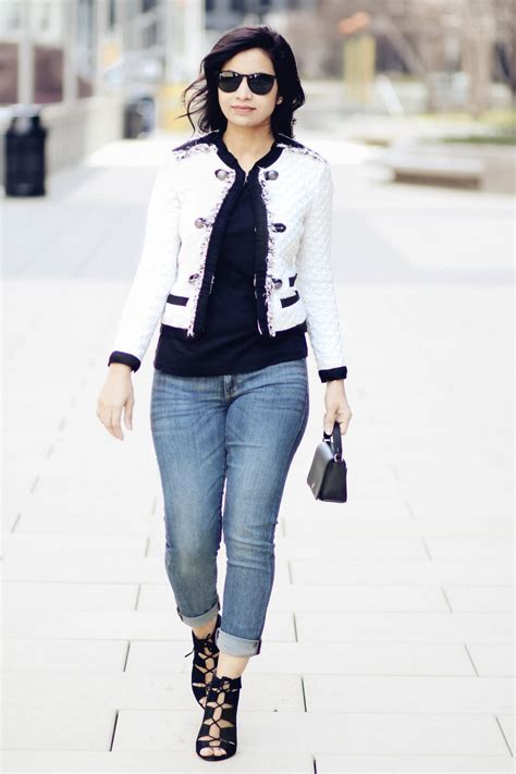 Chanel Style Black by Chanel Style Jacket Styleroundtheclock