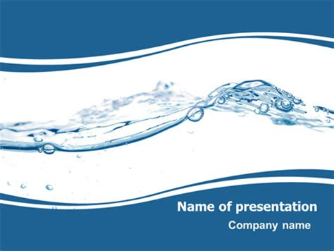 water splash presentation template for powerpoint and
