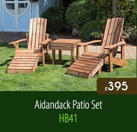 Staffordshire Garden Furniture Limited by Aidandack Patio Set Hb41 Staffordshire Fuel Supplies