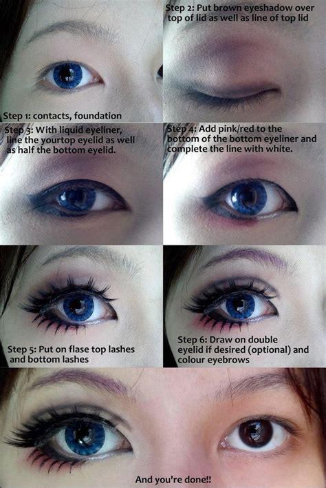 eyeliner tutorial bottom cosplay eye makeup tutorial by wenqiann on deviantart