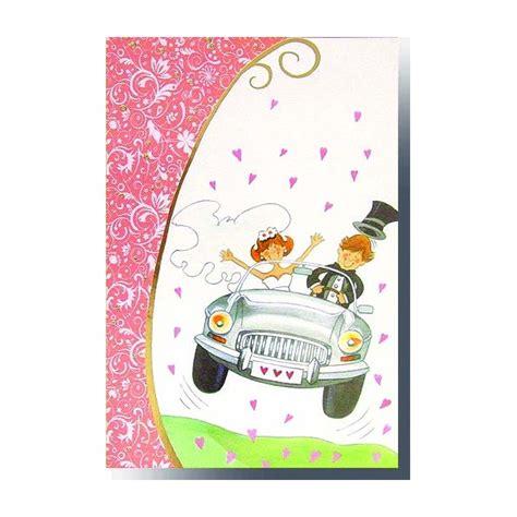 felicitaciones para novios tarjetas de felicitacin tarjeta boda coche edicromo barcelona