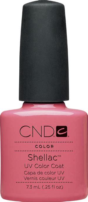cnd l bulbs cnd shellac uv color coat rose bud l gel nails