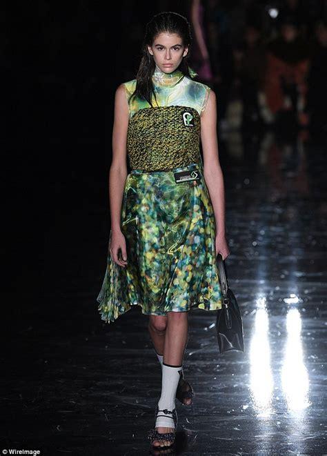 Milan Fashion Week Day Up by Kaia Gerber Lights Up Milan Fashion Week Daily Mail