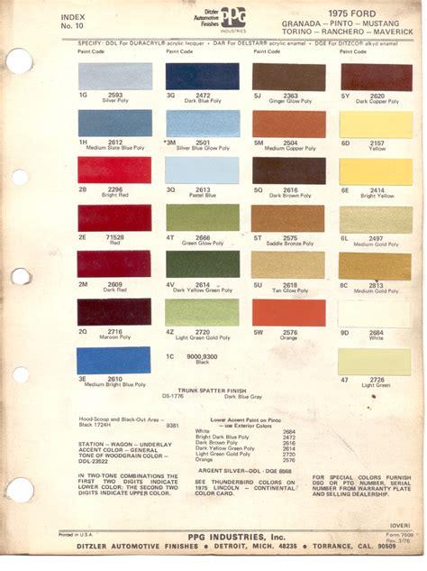paint chips 1975 ford granada pinto mustang torino rachero maverick
