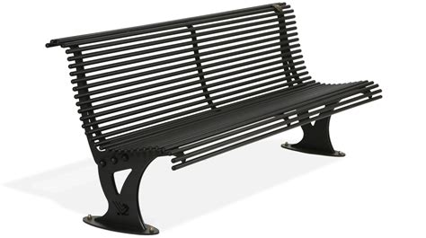 Chair With Backrest by Bench Model Mira Made Entirely Of Galvanized Steel And