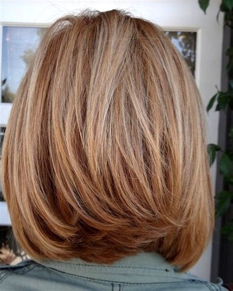 hairstyles back view medium length layered bob haircut front and back views