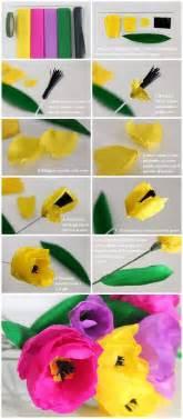 fiori di carta crespa istruzioni 25 best ideas about fiori di carta on fiori