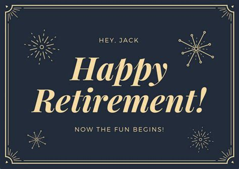 Retirement Card Template Free by Retirement Card Templates Canva