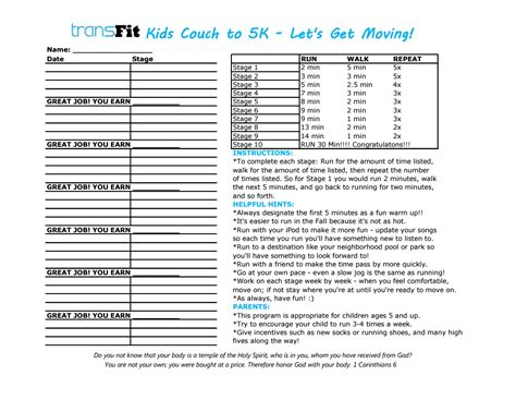 To 5k With by Get Active Family To 5k Program Transfit