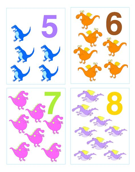 printable number cards for toddlers cathy s lesson plan number counting 1 10