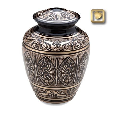 urns for ashes black gold brass cremation urn for ashes by loveurns
