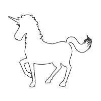 printable unicorn head stencil unicorn stencil