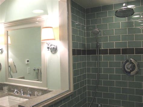 sage green glass subway tile 3x6 for backsplashes showers sage green 3x6 glass subway tile modern bathroom