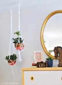 diy macrame hanging planter diy hanging macram 233 chair