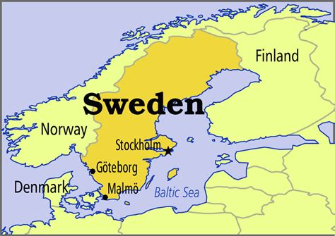 sweden on a world map map of sweden in the world sweden map geography
